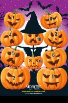 Egertec - 10pcs Halloween Novelty Target Faces with 50pcs FREE Target Pins