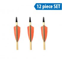 Ready to Shoot 5/16 Traditional Wooden Arrows (12x pcs)
