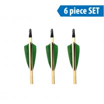 Ready to Shoot 5/16 Traditional Wooden Arrows (set of 6)