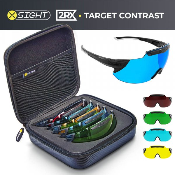 X Sight Sport - 2RX Target Contrast Archery Glasses Set